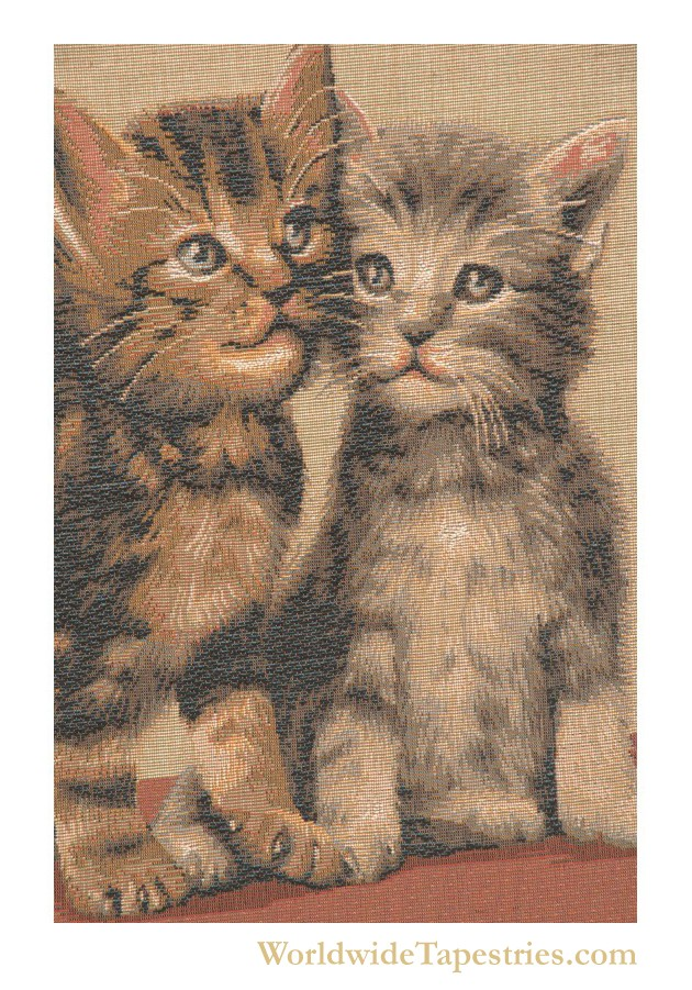 Two Kittens Cushion Cover