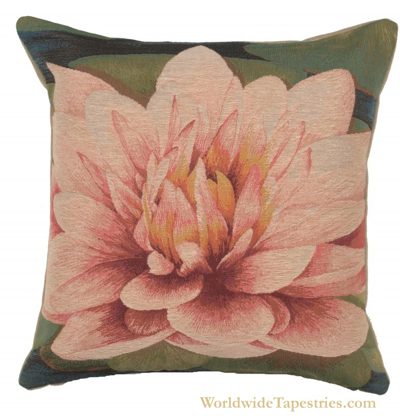 Water Lilly Flower Cushion Cover
