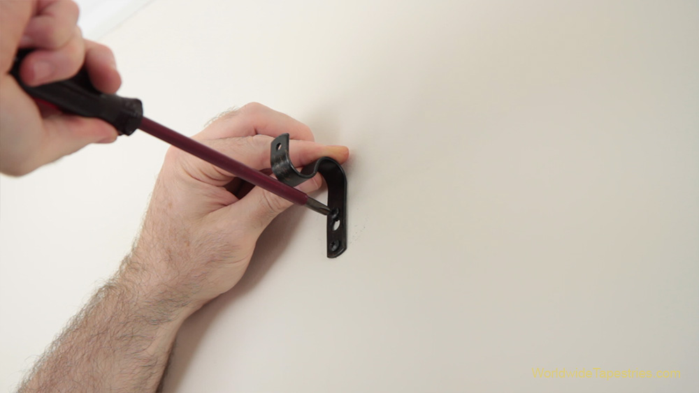 fix brackets to wall