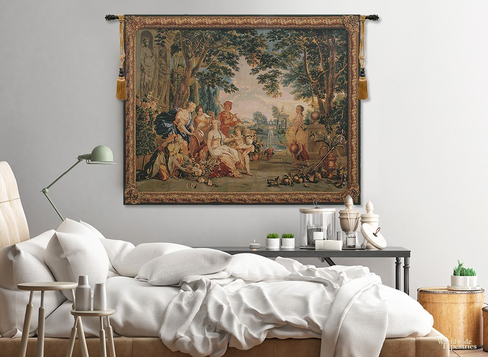 bedroom with triumph of Flora tapestries