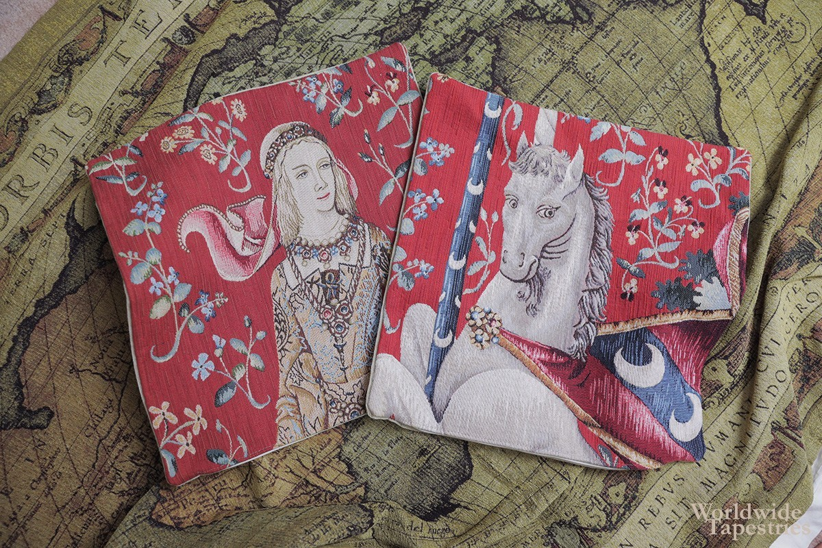 lady and the unicorn tapestry cushion covers