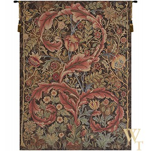 Acanthe Marron Detail Tapestry