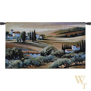 Afternoon Light In Tuscany Tapestry