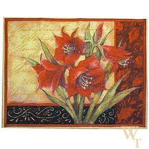 Amaryllis with Scroll Tapestry