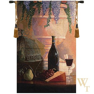 An Elegant Afternoon Gathering Tapestry