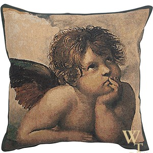 Angels by Raffael - Left - Cushion Cover