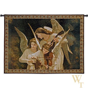 Angels Playing Violin Tapestry