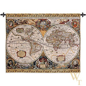 Antique Map Geographica Tapestry