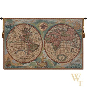 Antique Map Tapestry