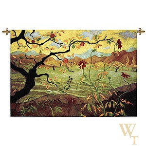 Apple Tree with Red Fruit Tapestry