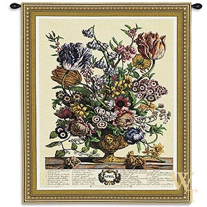 April Botanical Tapestry