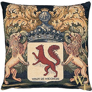 Arms of Vaux-le-Vicomte Cushion Cover