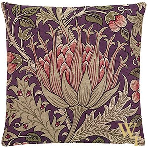 Artichoke Purple Cushion Cover