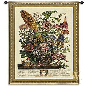 August Botanical Tapestry