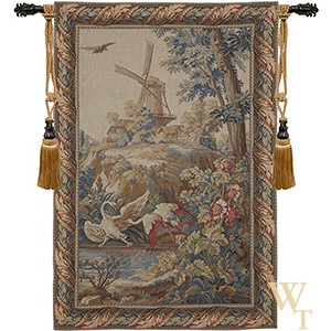 Birds and Windmill Tapestry