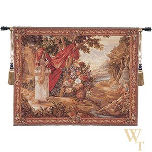 Bouquet Au Drape Fontaine with People Tapestry