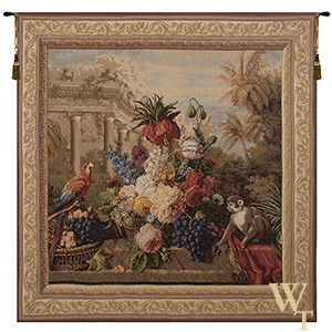 Bouquet Exotique with Monkey Tapestry