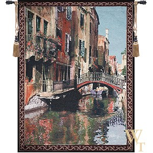 Canal with Reflections Tapestry