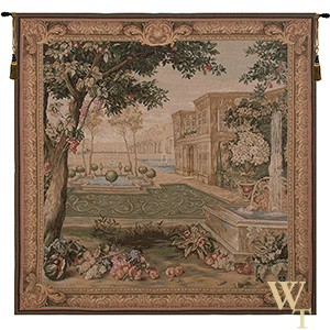Chateau Fountain Tapestry