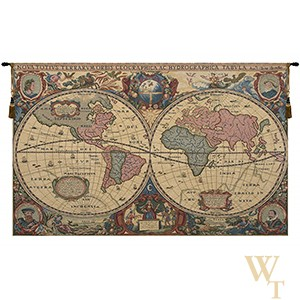 Chenille Map Tapestry