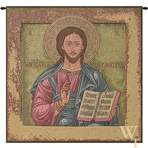 Christ Pantocrator (Icon) Tapestry