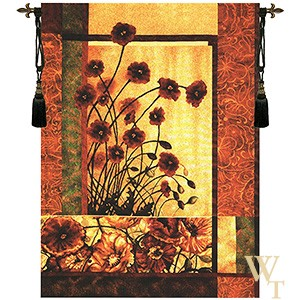 Contemporary Poppy Tapestry