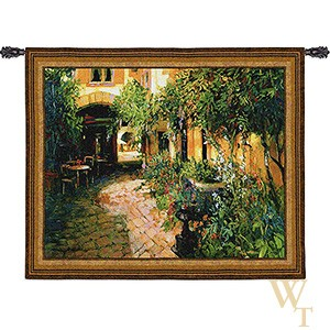 Courtyard Alsace Tapestry