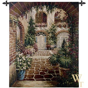Courtyard Vista Tapestry