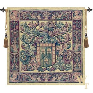 Crest And Fleur Tapestry