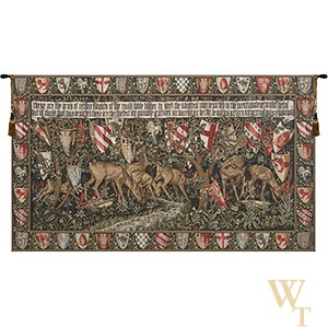 Deer & Shields - With Border Tapestry