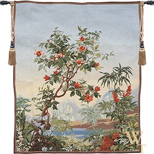 Flamboyant Paysage Exotique Tapestry
