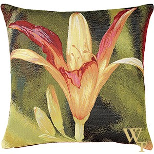 Fleur Orange Fond Cushion Cover