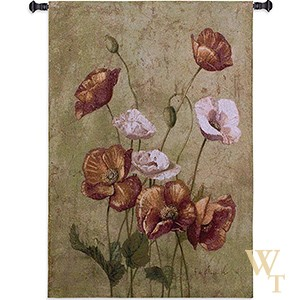 Fleurs Rouges Tapestry
