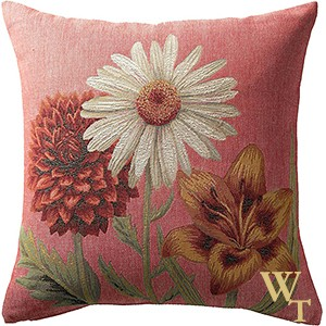 Fleurs Vives Rose Cushion Cover