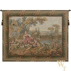 Fountain by the Lake Tapestry