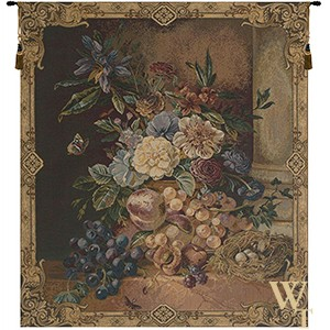 Frame of Flowers I Tapestry