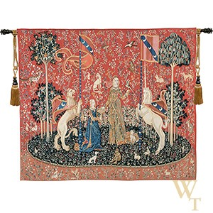 Handwoven Le Gout - Lady and the Unicorn (Taste) Tapestry