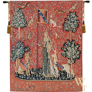 Handwoven Le Toucher - Lady and the Unicorn (Touch) Tapestry