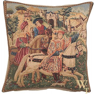 Hunting Scene Cushion Cover