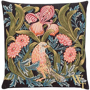 Iris and Bird Cushion Cover