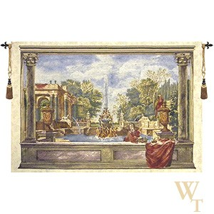 Italian Garden with Parrot Tapestry