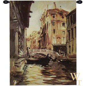 Italian River View Tapestry
