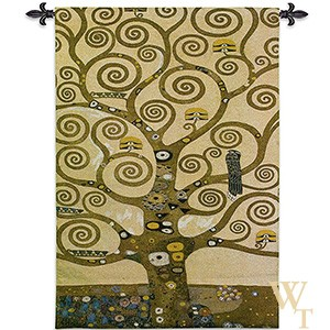 Klimt Tree of Life IV Tapestry