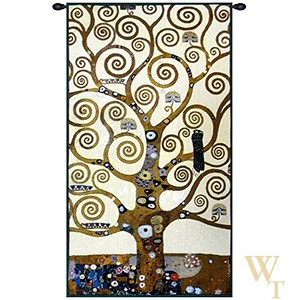 Klimt Tree of Life V Tapestry