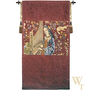 Lady with the Organ (Hearing) Tapestry