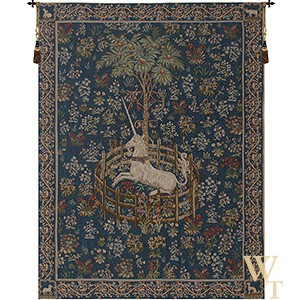 Licorne Captive - Blue Tapestry