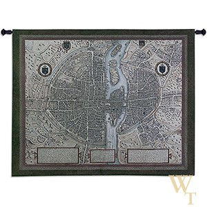 Map of Paris Tapestry