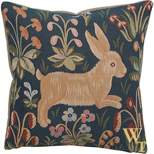 Medival Rabbit Running Cushion Cover