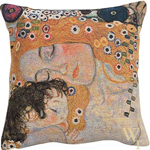 Mother And Child Klimt Cushion Cover