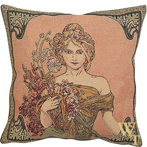 Mucha Spring Cushion Cover